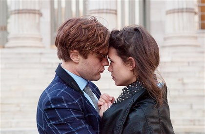 "IOrigins1-5 Michael Pitt and Astrid Berges-Frisbey star in ""I Origins."""
