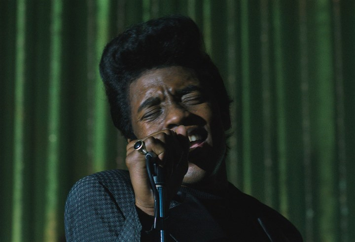 "GetOnUp1 Chadwick Boseman as James Brown in ""Get on Up""."
