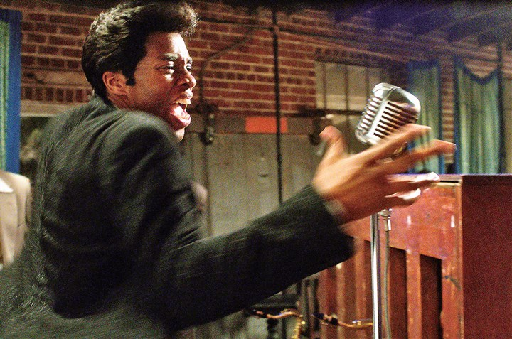 "GetOnUp4-1 Chadwick Boseman as James Brown in ""Get On Up."""