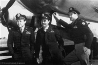 From left: Dutch VanKirk, Navigator; Paul Tibbets, Pilot; Tom Ferebee, bombardier.