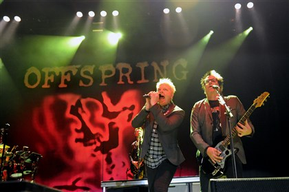 20140729JHMagOffspring05-4 Offspring lead vocalist Dexter Holland and lead guitarist Kevin John Wasserman at Stage AE.