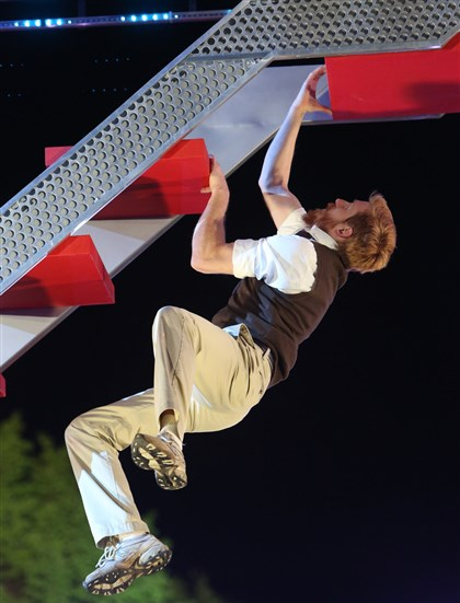 "Pitt professor Joel Brady  Pitt professor Joel Brady swings through the Denver regionals of NBC's summer hit show, ""American Ninja Warrior."""