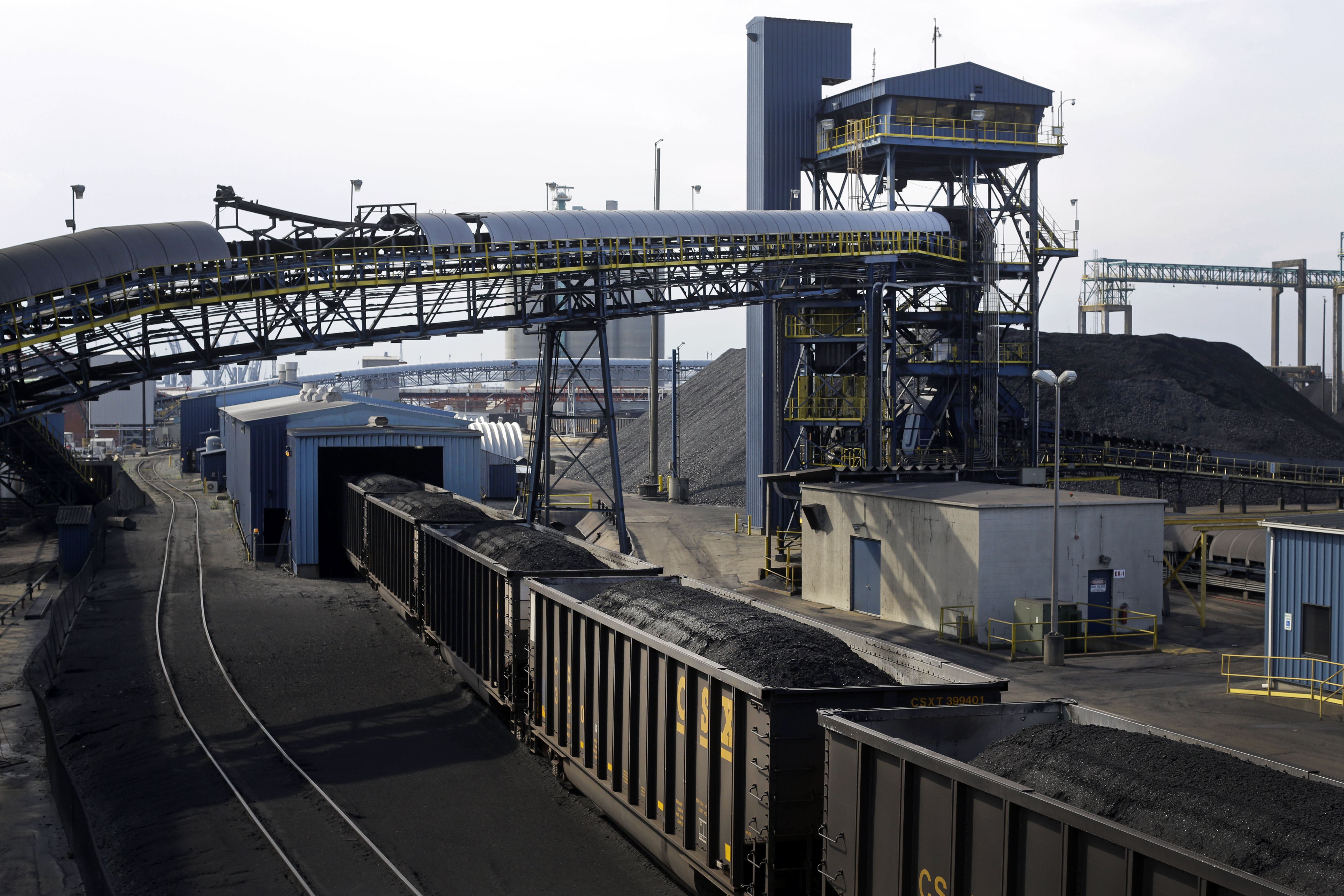 Obama Exporting Pollution Train cars containing coal roll into an unloading facility at Dominion Terminal Associates' coal terminal in Newport News, Va., in this May 22, 2014, photo. As the Obama administration weans the U.S. off dirty fuels blamed for global warming, energy companies have been sending more of America's unwanted energy leftovers to other parts of the world, where they could create even more pollution. With companies looking to double America's coal exports, the nation's growing position in the global energy trade could make global warming worse, fueling the world's demand for coal when many experts say most fossil fuels should remain in the ground to avert the most disastrous effects of climate change.