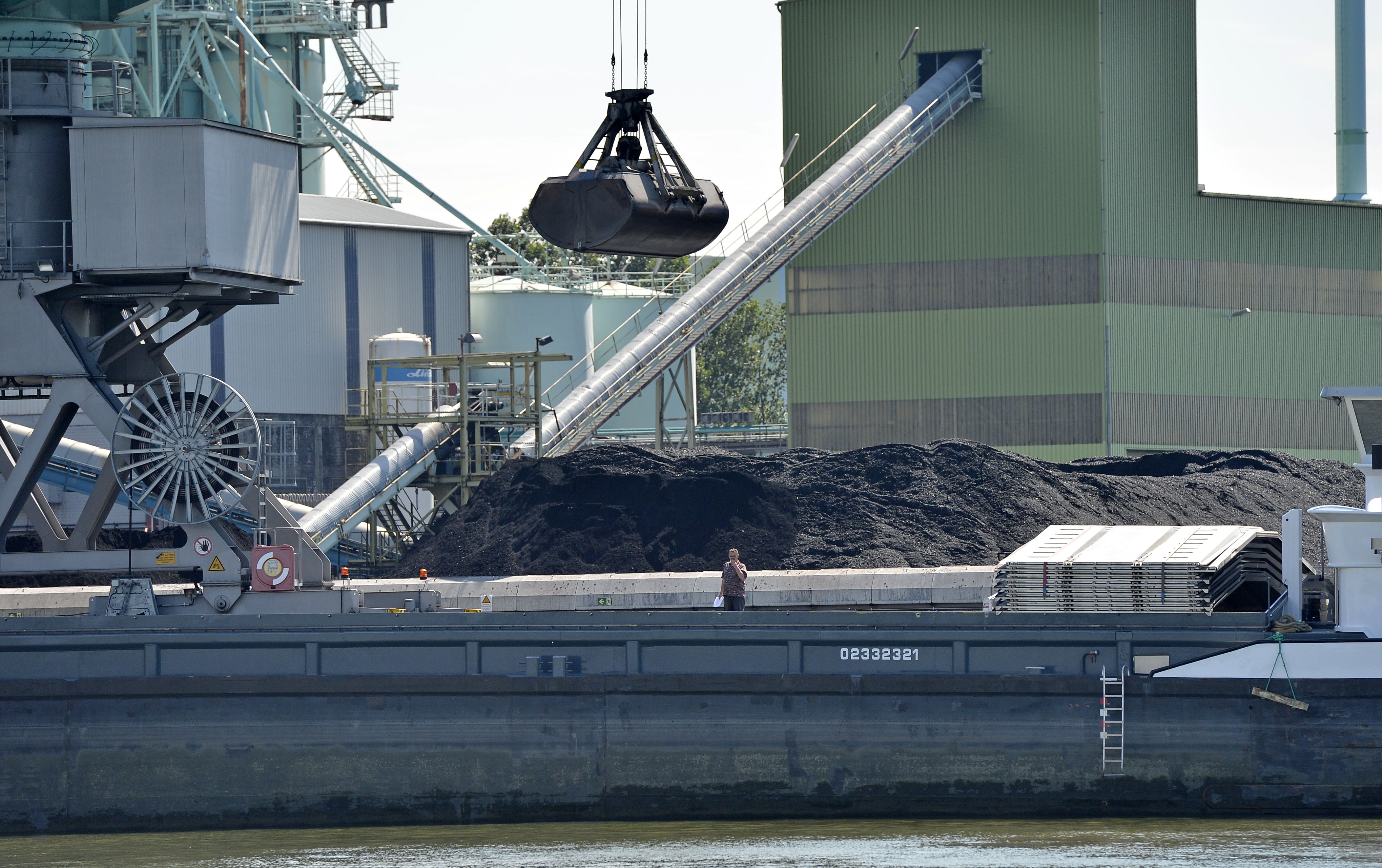 Obama Exporting Pollution Coal is unloaded at the Trianel power plant in Luenen, Germany, Thursday, July 24, 2014. The 750-megawatt power plant relies completely on coal imports, about half from the U.S. Soon, all of Germany's coal-fired power plants will be dependent on imports, with the country scheduled to halt all coal mining in 2018 when government subsidies end. As the Obama administration weans the U.S. off dirty fuels blamed for global warming, energy companies have been sending more of America's unwanted energy leftovers to other parts of the world, where they could create even more pollution.