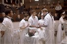 "Andre Holland, Michael Angarano, Clive Owen, Louis Butelli, Eve Hewson, Eric Johnson in ""The Knick."""