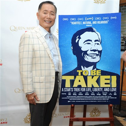 "George Takei 0730 George Takei hosts an exclusive screening of his biographical documentary, ""To Be Takei,"" on board Queen Mary 2 while in port at the Brooklyn Cruise Terminal on Monday."