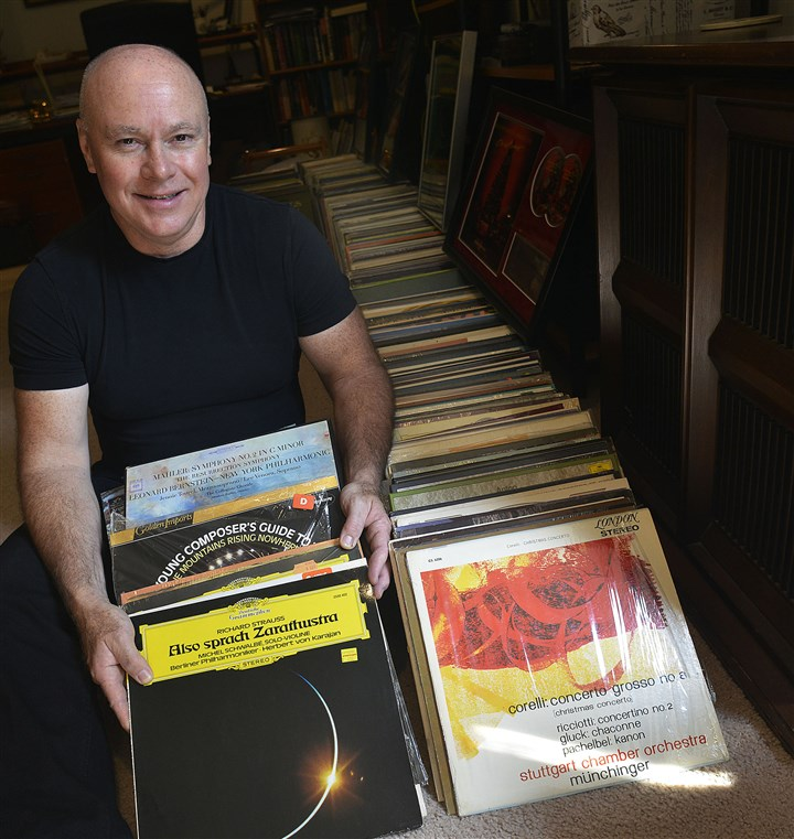 George Vosburgh, principal trumpet Pittsburgh Symphony Orchestra George Vosburgh, principal trumpet with the Pittsburgh Symphony Orchestra, poses at home in Mt. Lebanon with his collection of vinyl record albums.