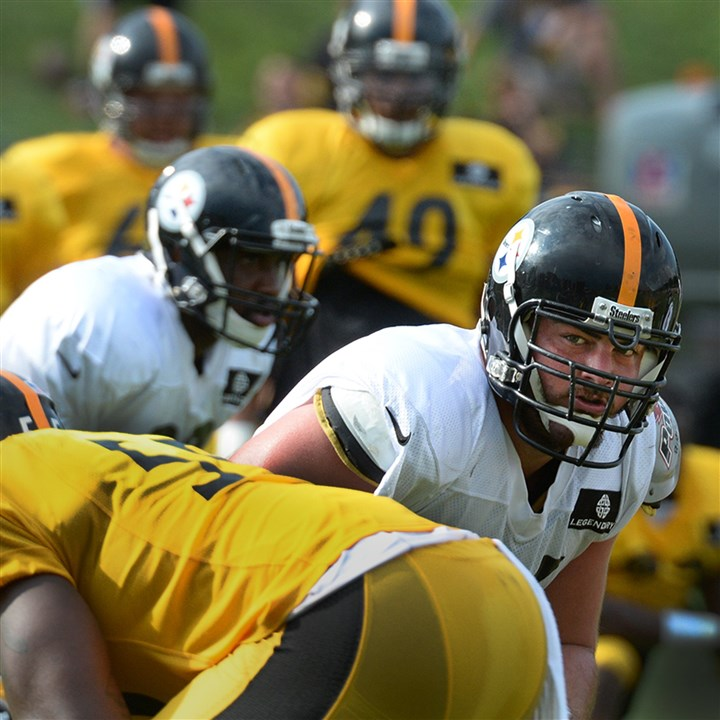 David DeCastro Steelers guard David DeCastro awaits a snap during Wednesday afternoon workouts at training camp at Saint Vincent College in Latrobe.