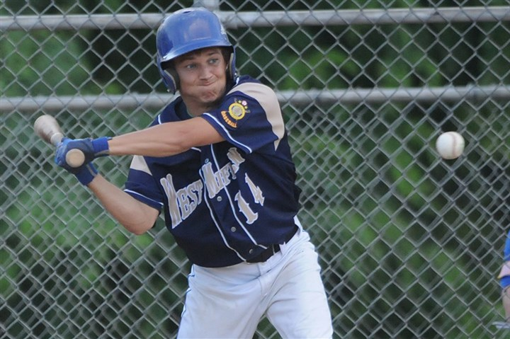 9qw00khn.jpg Jake Liposky has played solid right field and adds another offensive weapon for the West Mifflin American Legion team.