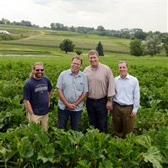 Brenkle's farm in Butler County has partnered with Eat'n Park Brenkle's farm in Butler County has partnered with Eat'n Park to provide fresh produce. From left: Luke Goldner, Don Brenkle, both with Brenkle's Farm, and Brooks Broadhurst and Kevin O'Connell with Eat'n Park.