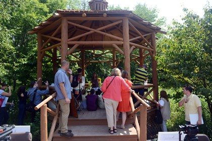 20140801MWHgardenHome01 The gazebo at the Pittsburgh Botanic Garden during its grand opening ceremonies on Friday.