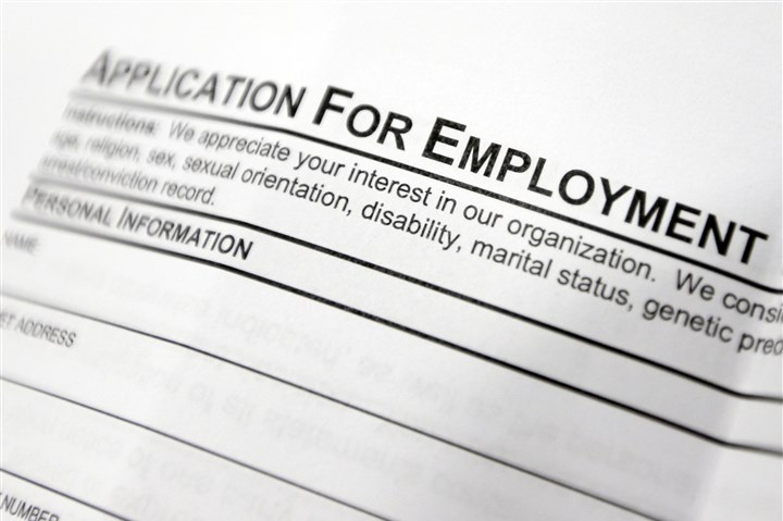 Unemployment Benefits A file photo shows an employment application form on a table during a job fair at Columbia-Greene Community College in Hudson, N.Y.