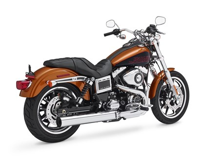 "Harley Ignition Switch Recall This product image provided by Harley-Davidson shows a 2014 FXDL Dyna Low Rider motorcycle. Harley-Davidson is recalling more than 3,300 FXDL Dyna Low Rider bikes because engine vibration can turn the switches from ""run"" to ""accessory."" The recall covers motorcycles from the 2014 ½ model year. (AP Photo/Harley-Davidson)"