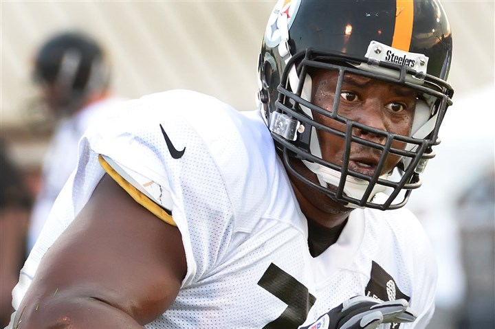 20140801pdSteelersSports05-3 Marcus Gilbert's contract is one of two the Steelers restructured.