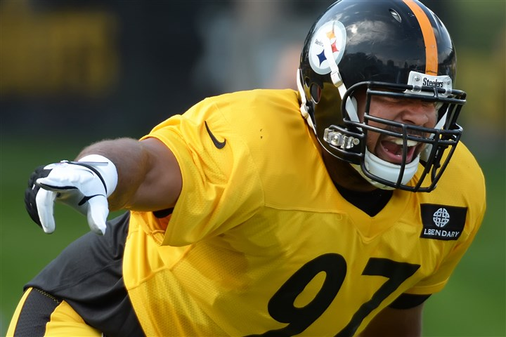 heyward0803 Cameron Heyward has gone from a youngster on the Steelers defensive line to the unit's most reliable veteran.