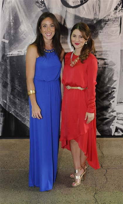 20140730rldWarholStyle02-1 Bridget Snyder in Gucci and Becca Christof in BCBG.