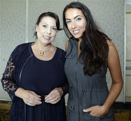 20140722radSeenEveryChild03.jpg Viola Valetta and Gisele Fetterman at the Every Child annual luncheon at the LeMont Restaurant on Mt. Washington. #SEENInspiring