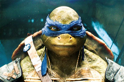 "Teenage2-1 Leonardo in ""Teenage Mutant Ninja Turtles."""