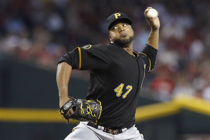 9rm00ml3 Pirates pitcher Francisco Liriano throws against the Arizona Diamondbacks during the first inning.