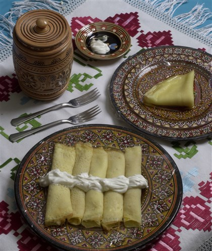 5T400K0V Palachinke -- fruit and cheese-filled crepes -- will be part of the food selections at the Carpatho-Rusyn Festival at St. John the Baptist Orthodox Church in Ambridge.