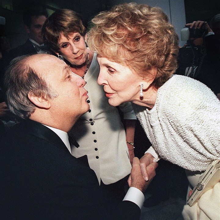 Jim Brady Nancy Reagan James Brady, left, in May 1999 with former first lady Nancy Reagan. Mr. Brady, former press secretary to President Ronald Reagan, has died at the age of 73.