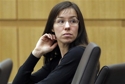 Jodi Arias This Jan. 9, 2013 file photo shows Jodi Arias appearing for her trial in Maricopa County Superior court in Phoenix.