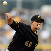 Pirates starter Charlie Morton hasn't pitched since Aug. 15.
