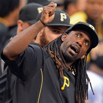 cutch0811 Reigning NL MVP and Pirates center fielder Andrew McCutchen remains out of the lineup with a rib injury.