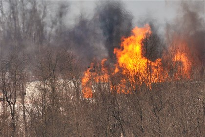 GreeneCoWell-1 The Chevron gas well fire in Dunkard, Greene County, on Feb. 11 killed Ian McKee, 27.
