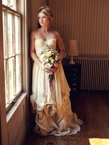 Deborah Lindquist at Glitter & Grit Wedding dresses by Deborah Lindquist combine elegance with eco-consciousness. They'll be part of a trunk show this weekend at Glitter & Grit boutique in Lawrenceville.