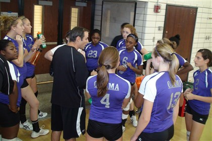 20140731hoobamabzsports.jpg Coach Pete Viti will lead Obama Academy this season as the first City League girls volleyball team to compete in the WPIAL.