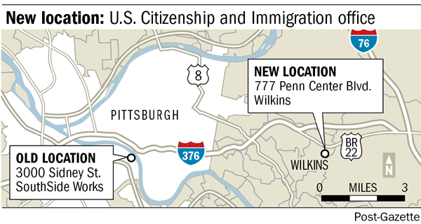 New location: U.S. Citzenship and Immigration office
