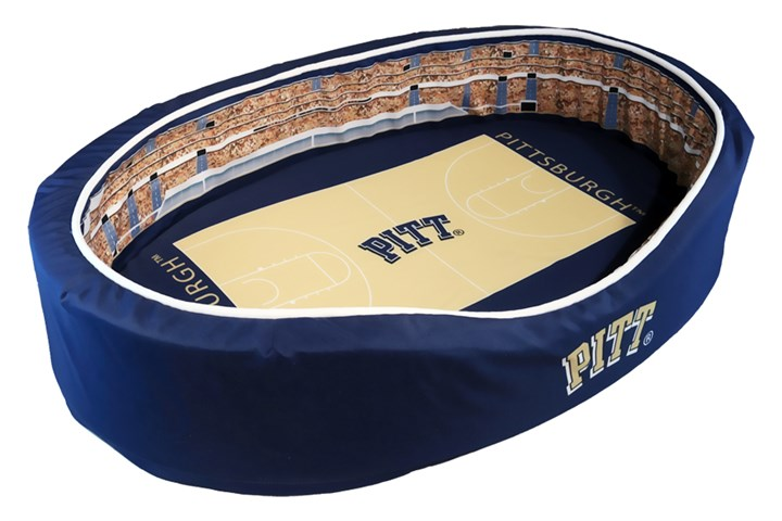 20140808hdStadium02Biz-1 Pitt stadium-themed pet beds are a product of Stadium Cribs, which launched operations less than one year ago. Their product line of pet beds is part of a growing market of niche and novelty college sports merchandise, helping to grow revenue at university athletic departments.