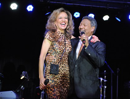 20140808ssSeenCasionMag2-12 Marilyn McCoo and Billy Davis Jr., original members of The 5th Dimension, perform Friday during the fifth aniversary party of Three Rivers Casino.