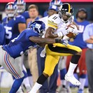Markus Wheaton picks up a first down against the Giants during a preseason game earlier this month at MetLife Stadium in East Rutherford, N.J.