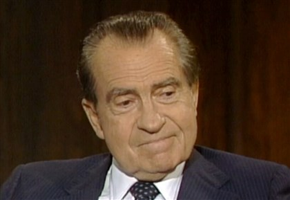 Nixon Resignation-Tapes 2 In this frame grab of video made on June 10, 1983 and made available by Raiford Communications, Inc., former president Richard Nixon talks about his 1974 resignation in a series of interviews conducted by former White House aide Frank Gannon in New York City.
