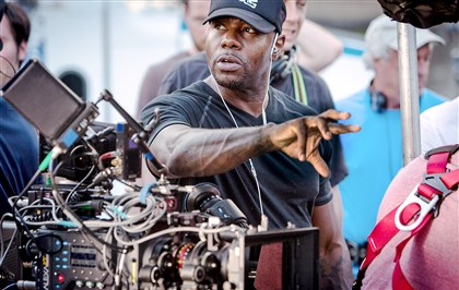"20140810hoFUQUAmag  Director Antoine Fuqua on the set of ""Southpaw,"" which just wrapped up filming in Pittsburgh."