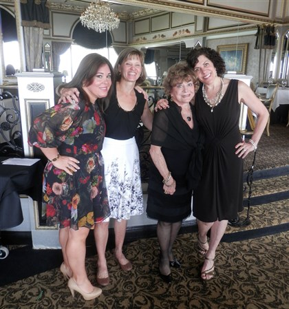 20140810CLO1seen CLO scholarship luncheon, from left, Robin Randall, Kristin Brennan, Patti Matty and Kristen Lane.