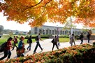 Carnegie Mellon University students walk across campus in 2010. CMU received three gifts totaling $21 million this week.