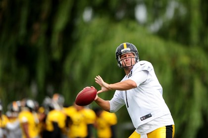 Ben Roethlisberger Ben Roethlisberger during workouts Monday at Saint Vincent College in Latrobe.