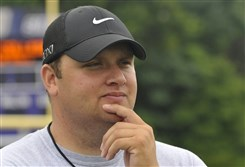 Pete Wagner Jr., seen here in 2014, was appointed Baldwin football head coach in 2013. The school competes in the WPIAL Class AAAA conference.