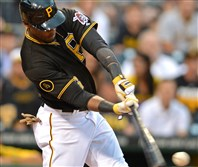 Starling Marte has had two 10-game hitting streaks this season.