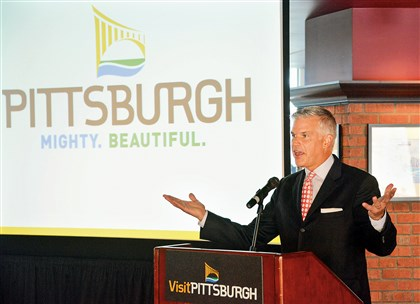 Craig Davis, CEO of VisitPittsburgh Craig Davis, CEO of VisitPittsburgh, touts its new ad campaign.