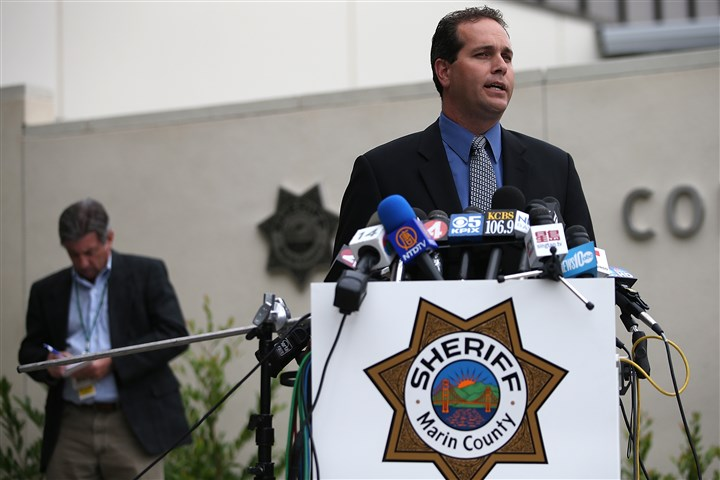 Robin Williams sheriff Marin County Sheriff Lt. Keith Boyd speaks during a press conference discussing the death of actor Robin Williams.