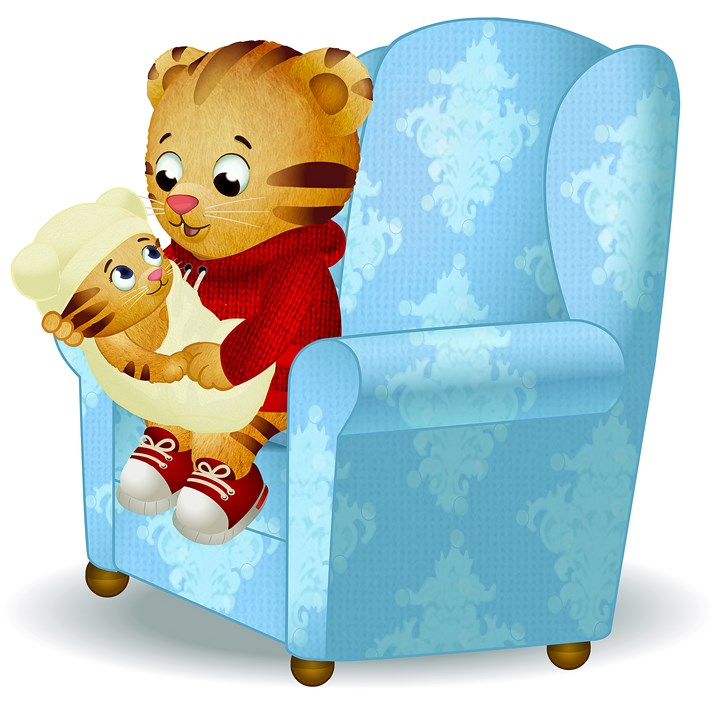 "20140812hdTigerMag (1) Daniel Tiger meets his new baby sister on ""Daniel Tiger's Neighborhood."""