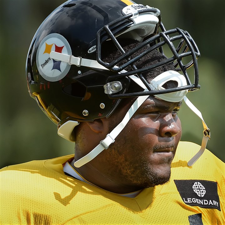 20140812pdSteelersSports05-1 Steelers defensive lineman Daniel McCullers during workouts Tuesday at Saint Vincent College in Latrobe.