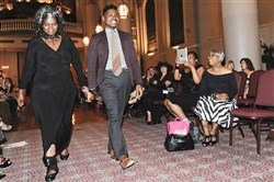 Dianne C. Lemon, left, and her son Jaylee Lemon at the kick-off fashion show for Pittsburgh Style Week at The Priory in August 2014. The event is seeking fashion designers to be featured in the city's third annual Style Week, Aug. 12-16.