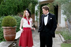 "From left, Emma Stone as Sophie and Colin Firth as Stanley in ""Magic in the Moonlight."""