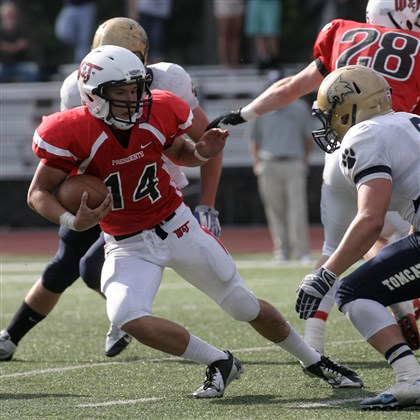 20140807howannerzsports.jpg Upper St. Clair graduate Pete Coughlin is the heir apparent to replace Matt Bliss as the starting quarterback for Washington & Jefferson.