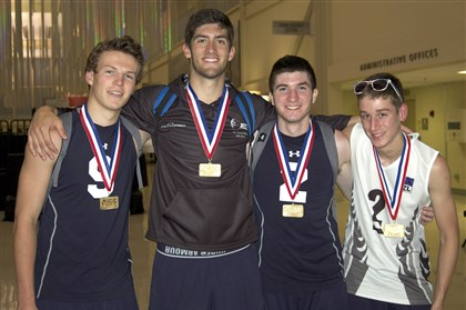 HighPerform2.jpg The Keystone Region Volleyball Association won the International Division of USA Volleyball's High Performance Championships, held July 22-26 at the Tulsa Convention Center. Fox Chapel's Jaysen Zaleski, Latrobe's Garrett Kollar, Our Lady of the Sacred Heart's Shaughn McDonald, and North Allegheny's Jeremy Best were members of team.